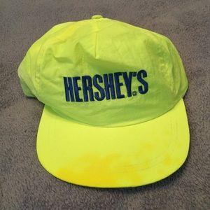 Vintage 90s neon Hershey's SnapBack